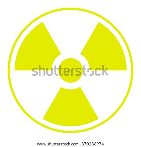 symbol of radioactive contamination with highlights on a white background,  danger - stock vector