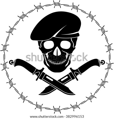 symbol of special forces. vector illustration