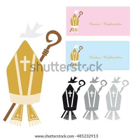 Symbol Christian Religion Confirmation Stock Vector Royalty Free