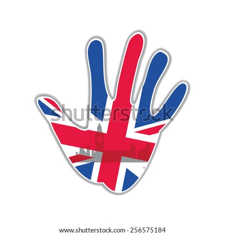 Symbol of the city - London. The idea for the design - stock vector