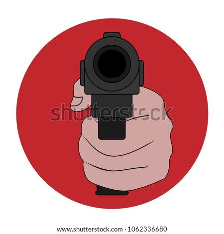 Symbol Prohibition Weapons Terrorism Violence Stop Stock Photo
