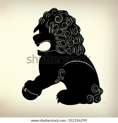 Symbol Traditional Chinese Lion Stock Vector Royalty Free