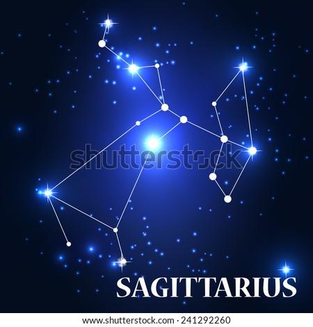 Symbol Sagittarius Zodiac Sign Vector Illustration Stock Vector