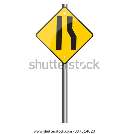 Symbol traffic sign, Vector image.
