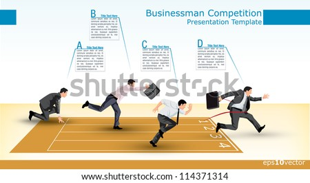 Symbolic presentation template of a business competition - stock vector