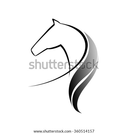 Symbolics with the image horses, vector