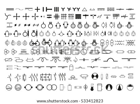 ivo soier s portfolio on shutterstock symbols in the wiring diagrams set of vector icons