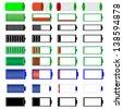 symbols of battery level - stock vector
