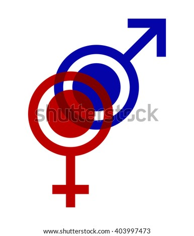 Symbols Female Male Gender Intertwined Stock Vector 403997473