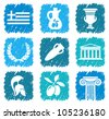 Symbols of Greece - stock vector