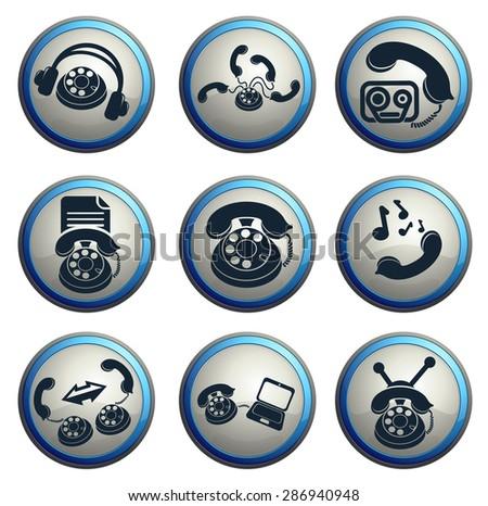 Symbols of Phone - stock vector
