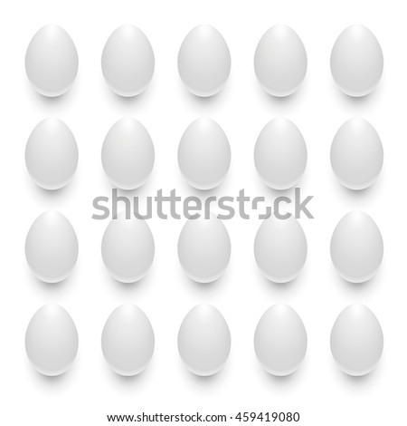 Symmetrical patterns from eggs - stock vector