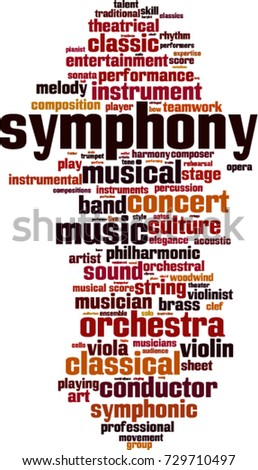 Symphony word cloud concept. Vector illustration