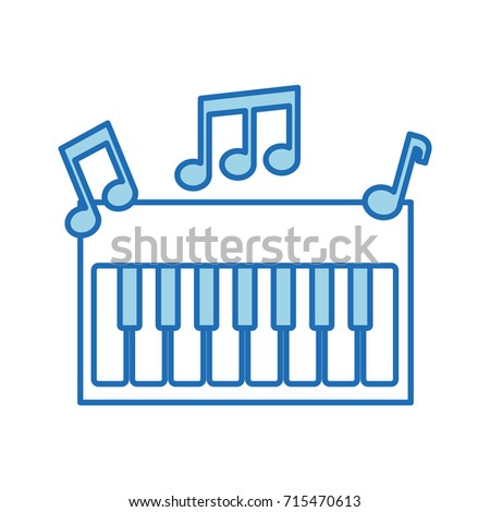 Synthesizer Note Music Electronic Instrument Keyboard Stock Photo