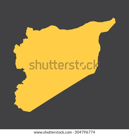 Syria border map. Vector illustration EPS8. - stock vector
