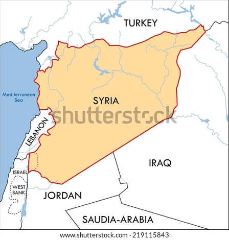 Syria Map Stock Images RoyaltyFree Images Vectors Shutterstock - Syria map