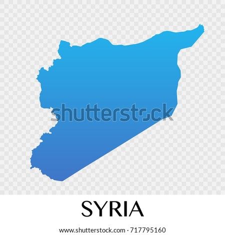 syria map in asia continent illustration design