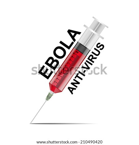syringe Ebola anti virus concept, vector illustration - stock vector