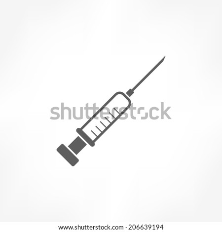 Syringe icon - stock vector