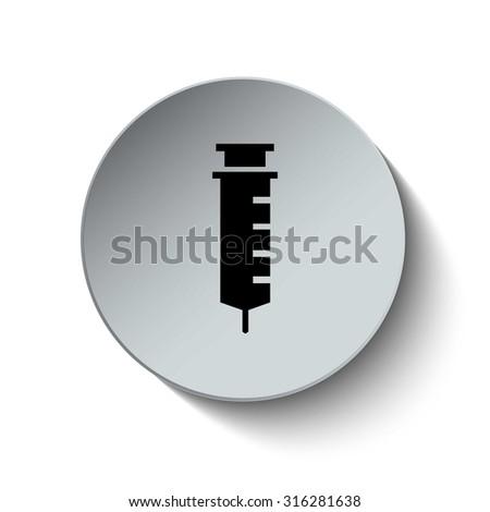 Syringe icon. Medical icon. Hospital icon. Vector illustration. EPS10 - stock vector