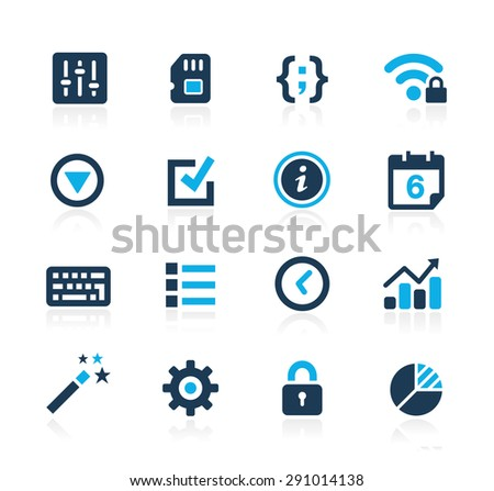 System Settings Interface // Azure Series - stock vector