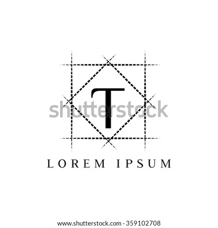 T letter vector logo template (sign, symbol, emblem, ornament)