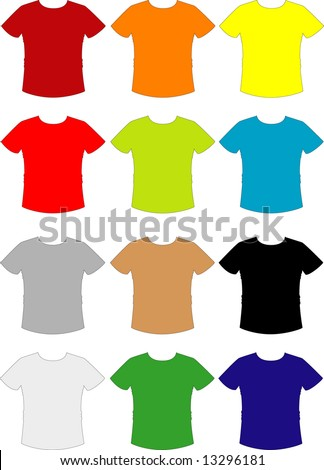 T-shirt Collection (VECTORS) - stock vector