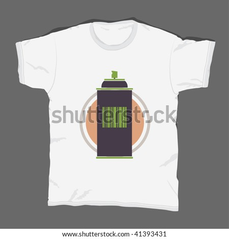 t-shirt design 15 - stock vector
