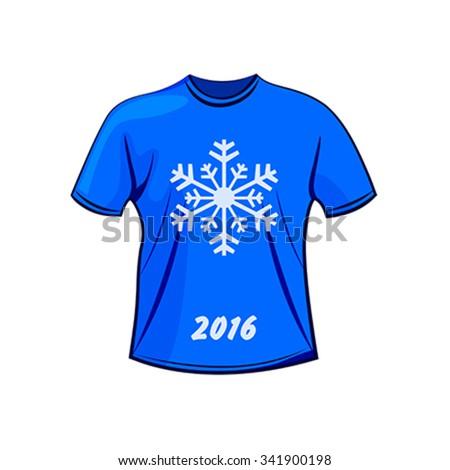 T-shirt design for winter - stock vector
