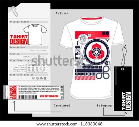 T-Shirt Design /  Vector Print Design - stock vector