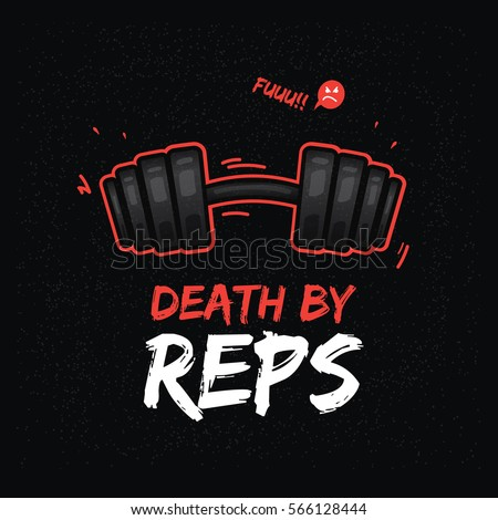 T Shirt Design With Heavy Dumbbell Weightlifting Theme