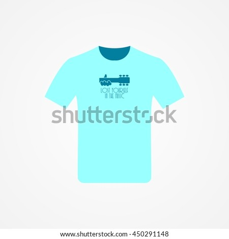 T-shirt Design with music idea vector illustration