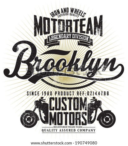 Motorcycle Typography Tshirt Graphics Vectors Stock Vector ...