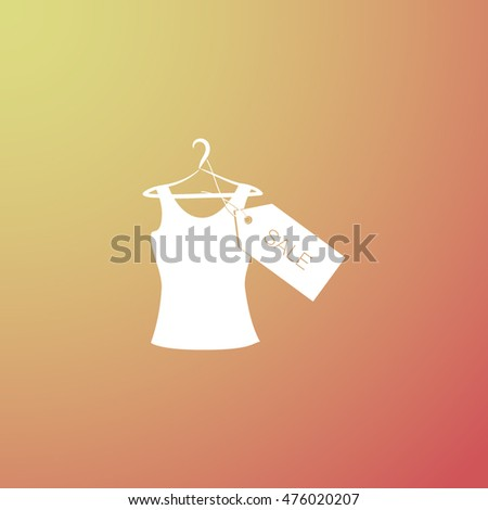 T-shirt hanger icon sale