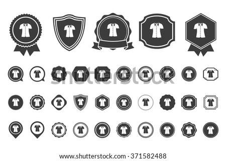 t shirt  icon - stock vector