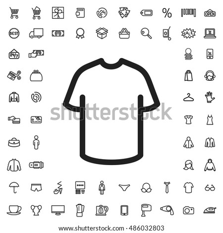 T shirt icon illustration isolated vector sign symbol