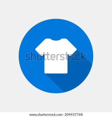 T shirt icon. Vector illustration. - stock vector