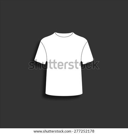 T-shirt icon with shadow - vector illustration - stock vector