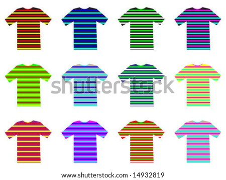 t-shirt illustration - stock vector