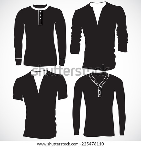 t shirt, jerseys and sweater set, vector collection