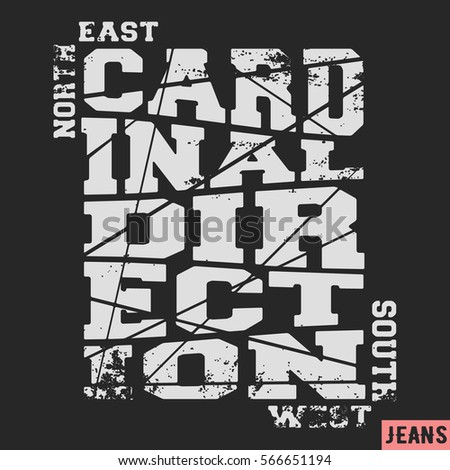 Cardinal direction stock images royalty free images for T shirt printing and labeling