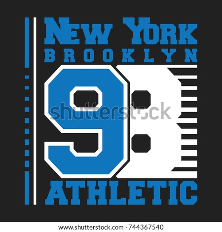 Tshirt Print Design Baseball Vintage Stamp Stock Vector