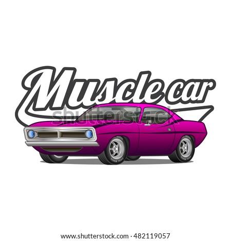 Muscle Car Stock Vectors Images Vector Art Shutterstock