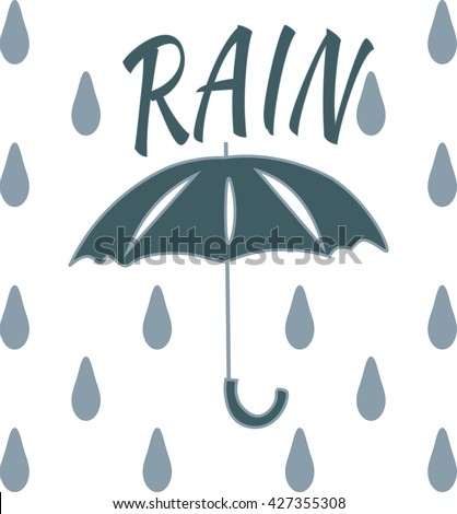 Light Blue On Grey Umbrella Stock Photos, Royalty-Free Images