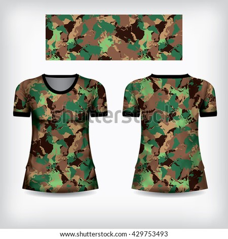 Camouflage shirt stock images royalty free images for Camouflage t shirt design