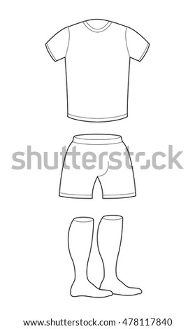 tshirt shorts socks template design sample stock vector 478117840
