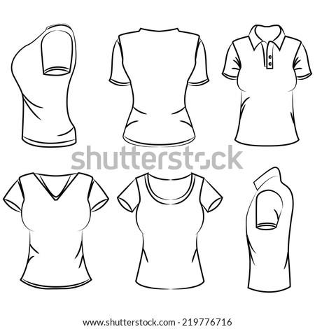 Tshirt Sketch Design Template Stock Vector Shutterstock - Sweatshirt design template