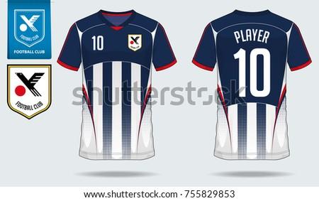 T Shirt Sport Design Soccer Jersey Football Stock-Vektorgrafik ...