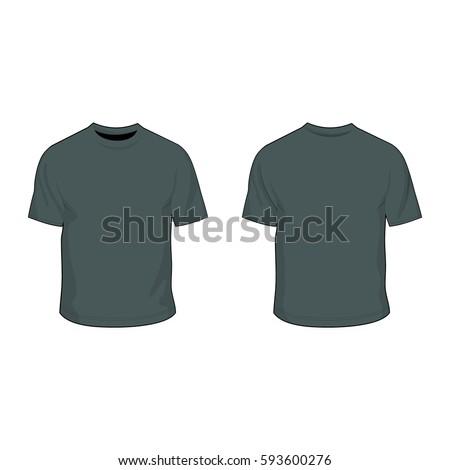 T Shirt Template Charcoal Grey Stock Vector 593600276 - Shutterstock
