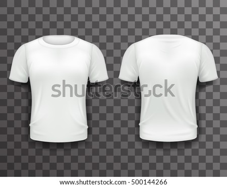 Tshirt Template Front Back Realistic Design Stock Vector 500144266 ...